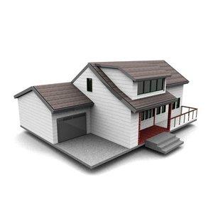 american neighborhood house 3d model