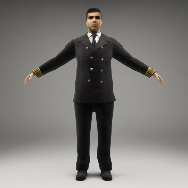 3d model of metropoly characters rigged human