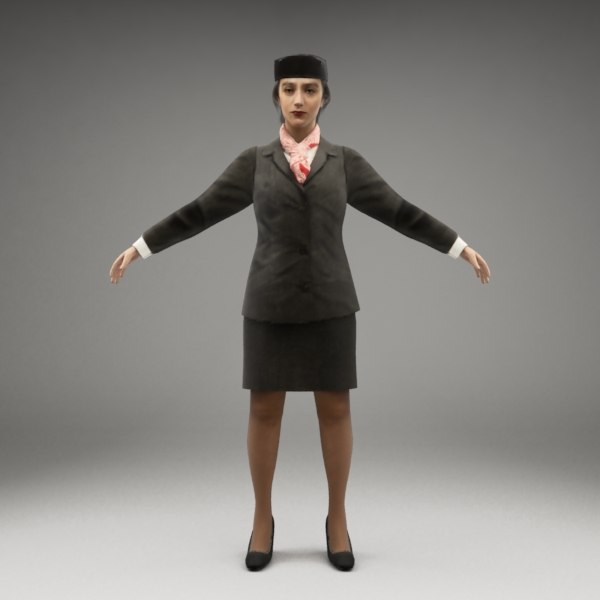 3d metropoly characters rigged human
