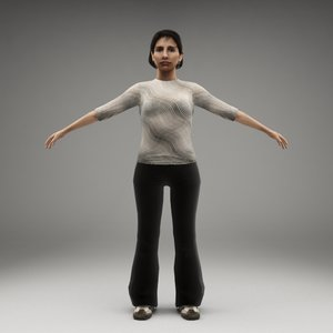 metropoly characters rigged human 3d model