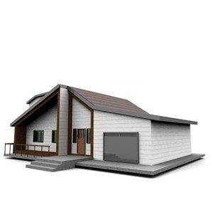 3ds max american neighborhood house