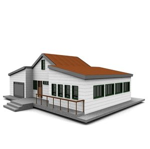 american neighborhood house 3d c4d