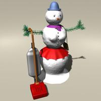 3ds max realistic snowgirl