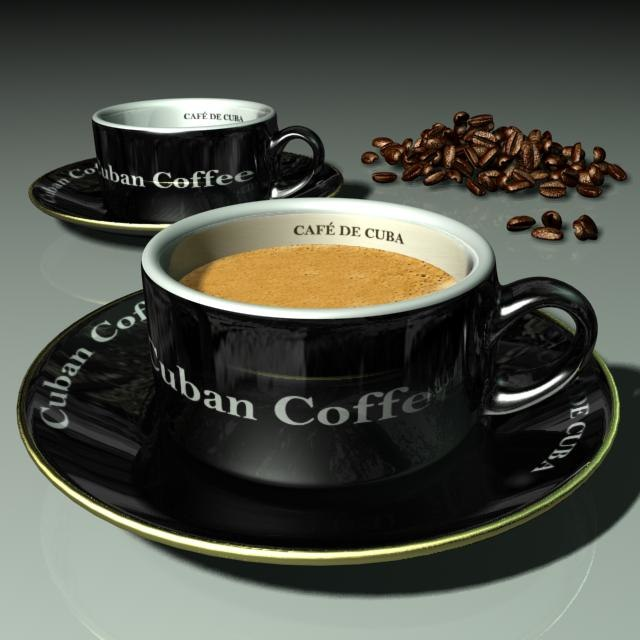 3d cuban cup coffee