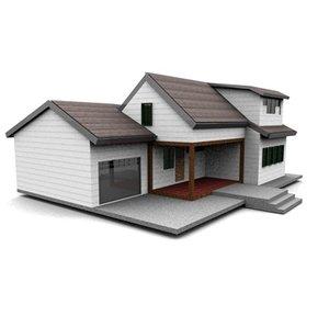 3dsmax american neighborhood house
