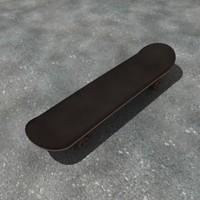 skateboard board skate 3d dxf
