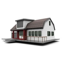 3d american neighborhood house