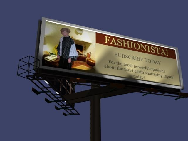 3d model of billboard