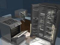 3d kitchen appliance stove oven