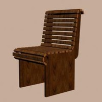 batten chair 3d max