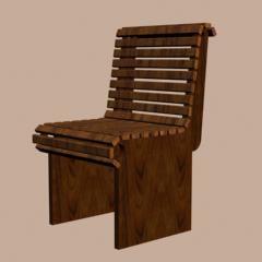 batten chair 3d max