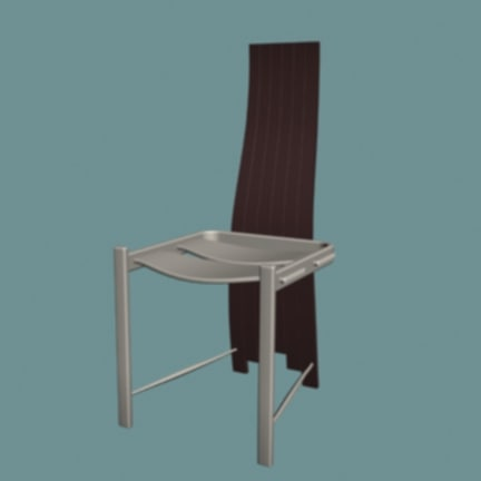 3d model tripod chair