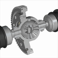Automobile Differential Gearbox