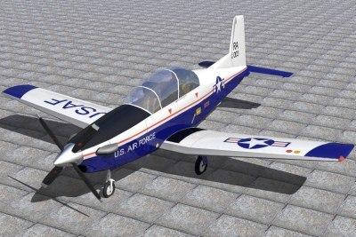 raytheon texan ii 3d model