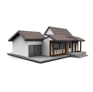 3d american neighborhood house model