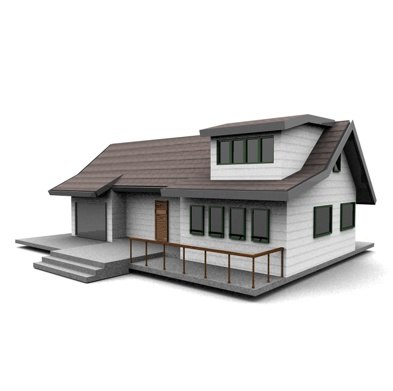 3d c4d american neighborhood house