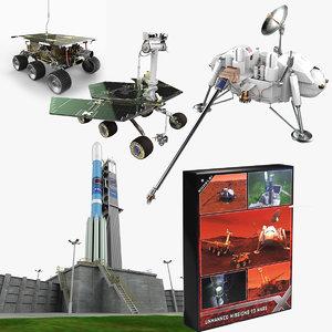 nasa mars missions 3d model
