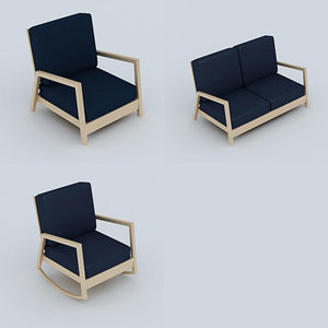chair armchair sofa 3d model