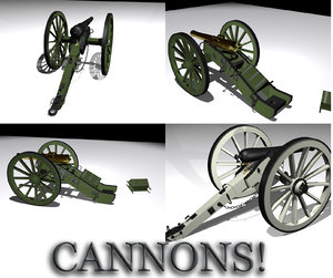 3d model historically cannon