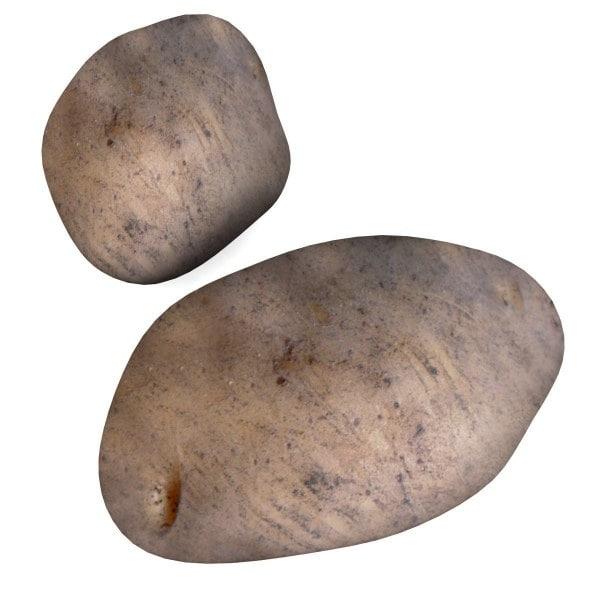 3d potatoes