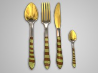 cutlery fork measurer 3d model