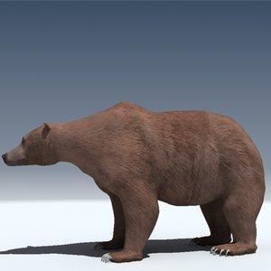 grizzly bear obj