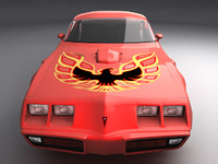 3d model pontiac firebird