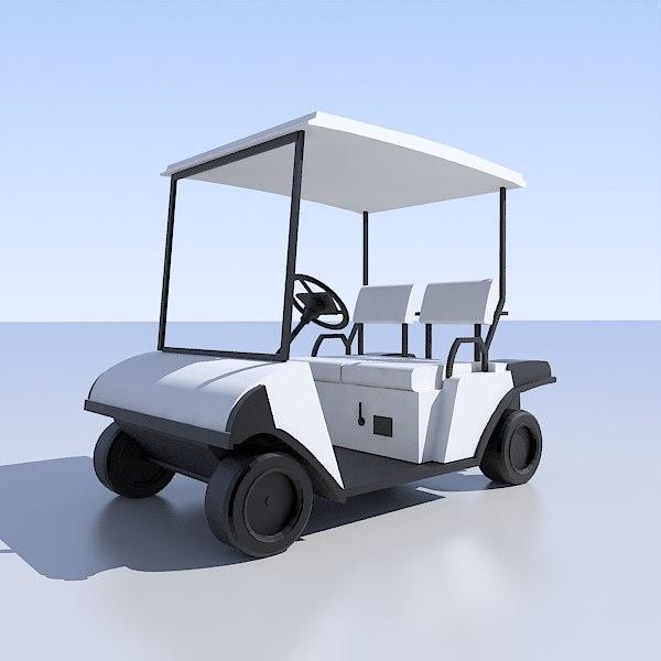 golf cart 3d model