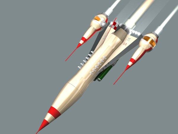rocket sci-fi ship space c4d