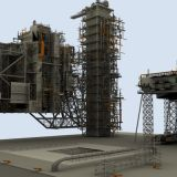 3d model of space shuttle launch tower