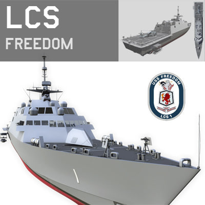 littoral combat ship lcs 3d model