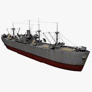 liberty ships vessels 3d model