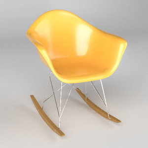 rocking chair charles eames 3d model