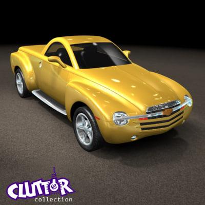 3d model 2007 chevy ssr car