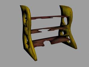 spice rack 3d model