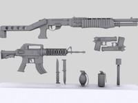 PACK: Spas 12 Colt Grenade Knife M4