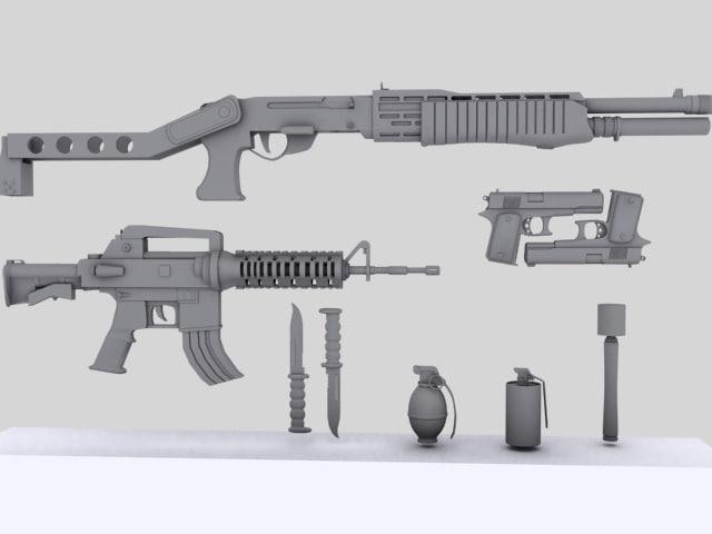 3d m4 colt spas 12 model