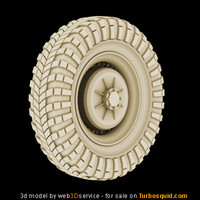 maya military armored car wheel