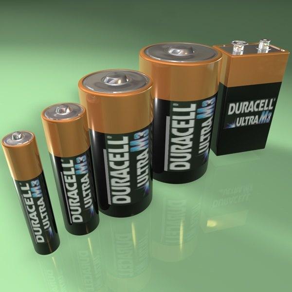 3d batteries model
