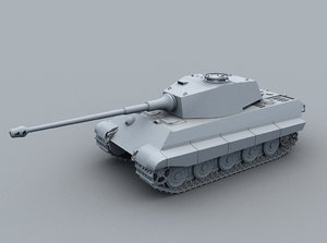 3d german king tiger tank