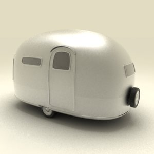 basic airstream trailer 3ds
