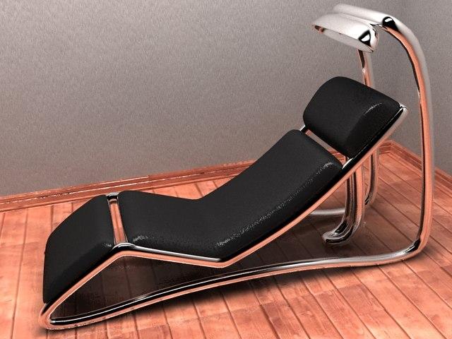 modern reading chair 3d max