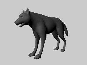 free obj mode wolf canine dog