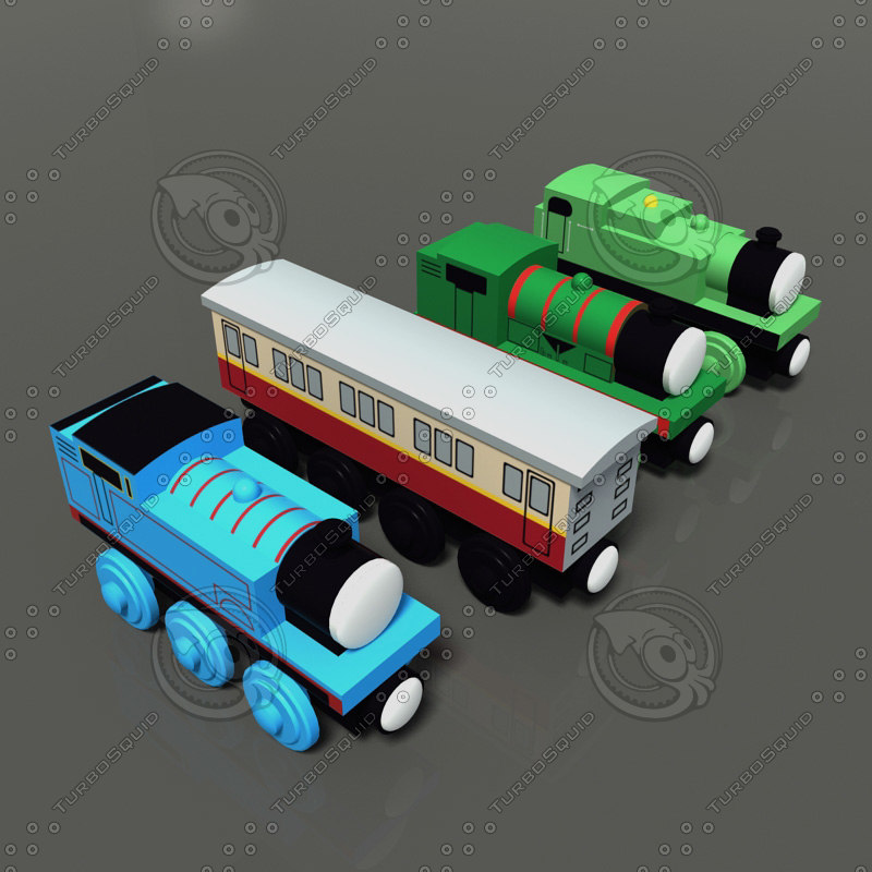 maya toy trains pack 01
