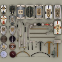 Medieval Weapons Pack.max