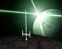 3d sword magic model