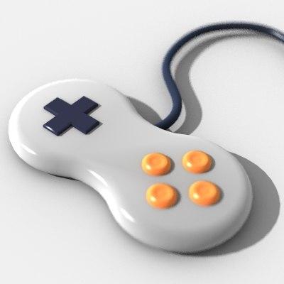 3d model gamepad pad