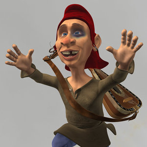 3d model gnome character animation idler