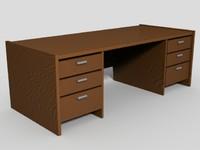 3d desk modo model