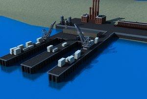 3d shipping yard